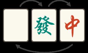 【三元牌の順番】